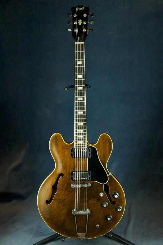 Полуакустическая гитара Greco SA-550 1977 с кейсом Japan.